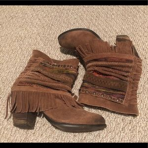Naughty Monkey Brown and Multicolored Short Boots